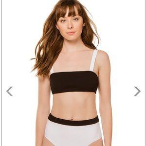 Lilis Bikini Top in Black/White
